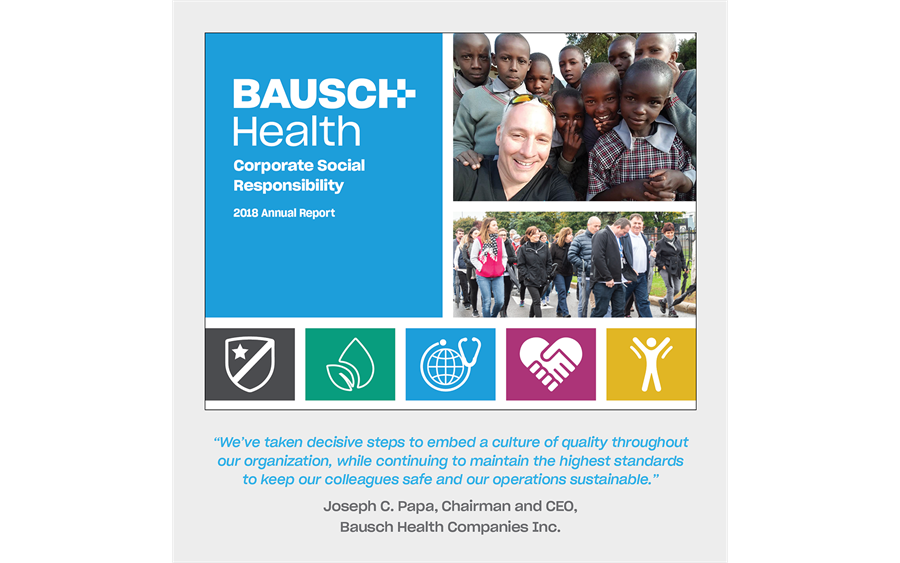 Bausch Health launches 2018 CSR report